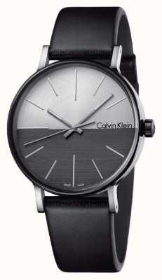 Calvin Klein 男士提升黑色真皮双音表盘 K7Y21CCX
