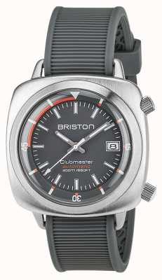 Briston 中性clubmaster潜水员拉丝钢自动灰色 17642.S.D.17.RG