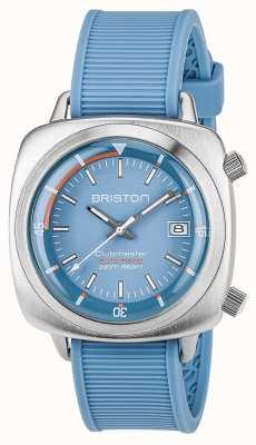 Briston 中性clubmaster潜水员拉丝钢自动蓝色 17642.S.D.18.RLB