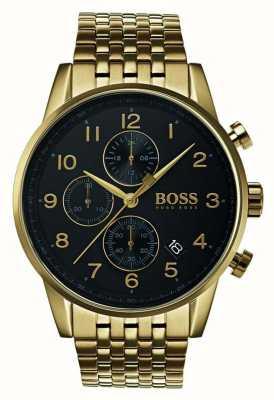 Hugo Boss 男士导航仪经典黑色表盘手表 1513531