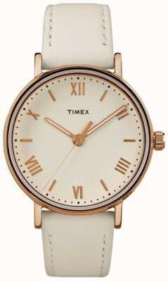 Timex 女士southview 37毫米奶油表盘玫瑰金色调的情况下 TW2R28300