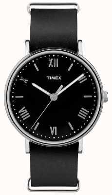 Timex 男士southview 41mm黑色表盘黑色表带 TW2R28600