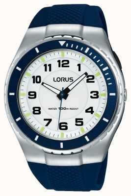 Lorus 男士运动功能硅胶表带黑色 R2329LX9
