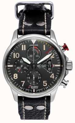 Junkers 男士军官3 eurofighter计时码表自动黑色 6826-5