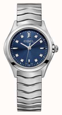 EBEL 波女装蓝色表盘不锈钢手表 1216315