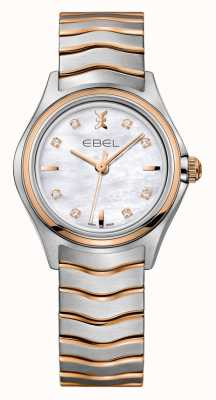 EBEL Wave女装钻石双色玫瑰金表款 1216324