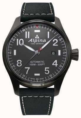 Alpina 男士的startimer飞行员自动黑色表带 AL-525G4TS6