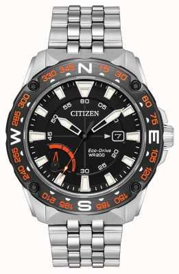Citizen 男士生态驱动不锈钢手镯动力储备 AW7048-51E