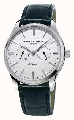 Frederique Constant 男士经典黑色皮革表带/绿色北约表带 FC-259ST5B6