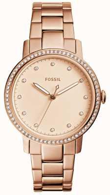 Fossil 女士内衣玫瑰金表 ES4288