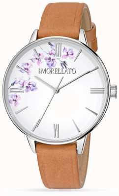 Morellato 女装ninfa棕色皮革手表 R0151141507