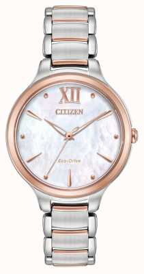 Citizen 女装升两色玫瑰金表 EM0556-87D