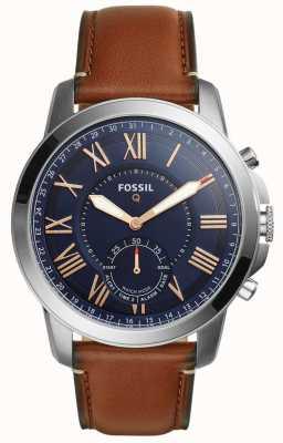 Fossil Q授权混合smartwatch浅棕色皮革 FTW1122