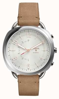 Fossil Q同谋混合smartwatch沙皮革 FTW1200
