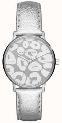 Armani Exchange 女士lola银色真皮表带不锈钢表壳 AX5539