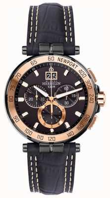 Michel Herbelin 男士新港游艇俱乐部计时码表黑色表带黑色表盘 36656/TR14