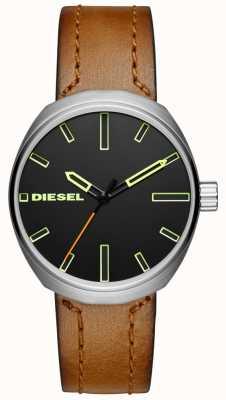 Diesel 男士klutch棕色皮革表带 DZ1831