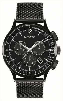Movado 男装大约计时黑色离子镀 0606804