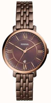 Fossil 女人jacqueline棕色不锈钢手表 ES4275