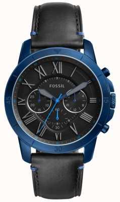 Fossil 男士授予黑色和蓝色计时码表 FS5342