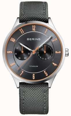 Bering 男士超轻钛尼龙灰色 11539-879