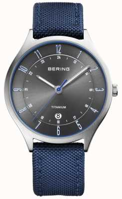Bering 男士超轻钛尼龙蓝 11739-873