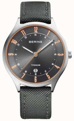 Bering 男士超轻钛尼龙灰色 11739-879