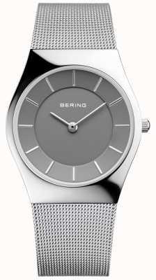 Bering 女子经典圆形米兰银色表带 11936-309