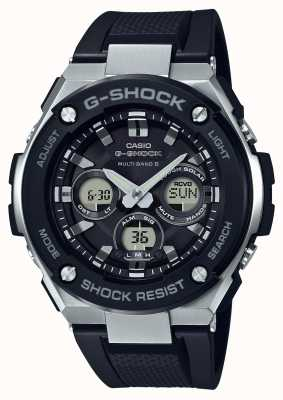 Casio 卡西欧g-shock g钢中型报警chrono黑色 GST-W300-1AER