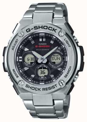 Casio 男士g-shock g-steel中型报警chrono不锈钢 GST-W310D-1AER