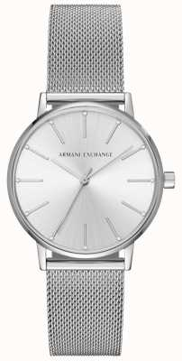 Armani Exchange 女人不锈钢网眼手链 AX5535