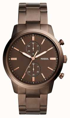 Fossil 男士镇民计时码表棕色 FS5347