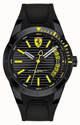 Scuderia Ferrari 男士redrev黑色硅胶表带腕表 0830426