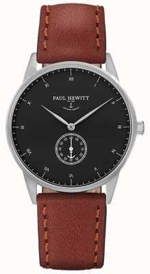 Paul Hewitt 中性签名棕色皮革表带 PH-M1-S-B-1M