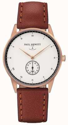 Paul Hewitt 中性签名棕色皮革表带 PH-M1-R-W-1M