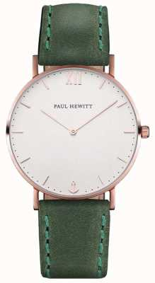 Paul Hewitt 中性水手绿色皮革表带 PH-SA-R-ST-W-12M