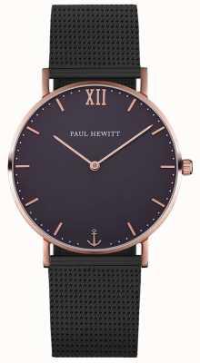 Paul Hewitt 中性水手黑色网状手镯 PH-SA-R-ST-B-5M