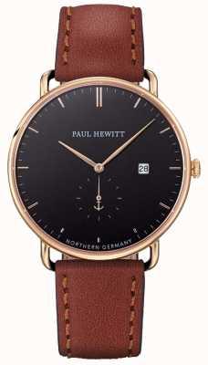 Paul Hewitt 男士大西洋棕色皮革表带 PH-TGA-G-B-1M