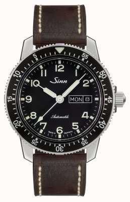 Sinn 104是经典飞行员手表深棕色复古皮革 104.011-BL50202002007125401A