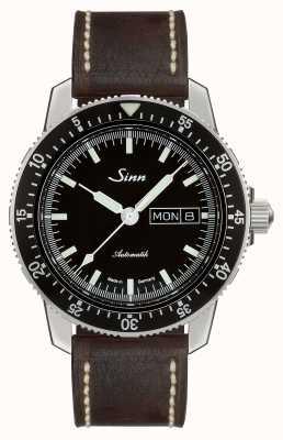 Sinn 104 st我经典飞行员手表深棕色复古皮革 104.010-BL50202002007125401A