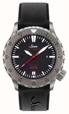 Sinn U212 ezm 16任务计时器U艇钢黑色硅胶表带 212.040