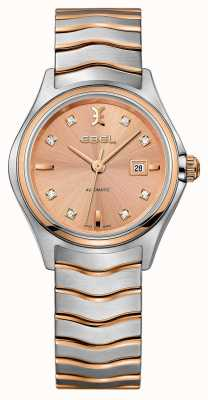 EBEL 女装波浪钻石镶嵌双色玫瑰金表款 1216328