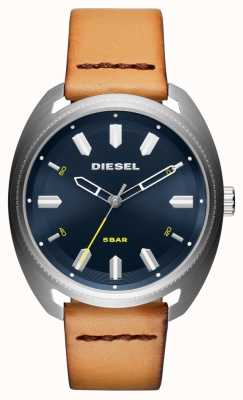 Diesel 男士fastbak棕褐色皮革手表 DZ1834