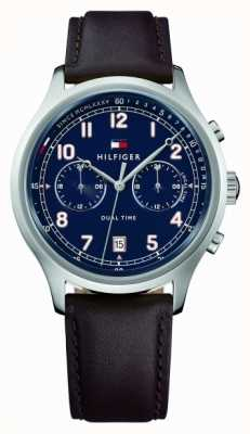 Tommy Hilfiger 男士艾默生皮质表带手表 1791385