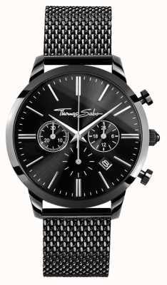 Thomas Sabo 男士黑色不锈钢计时腕表 WA0291-287-203-42