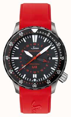 Sinn U2 sdr u-boat钢铁任务计时器潜水员红色硅胶 1020.040