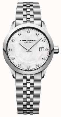 Raymond Weil 女式自由职业者珍珠贝母表盘 5629-ST-97081