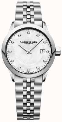Raymond Weil 女士自由职业者珍珠贝母表盘 5629-ST-97081