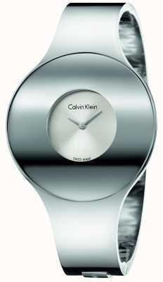 Calvin Klein 女人银钢无缝手表中 K8C2M116