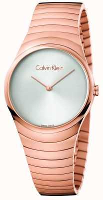 Calvin Klein 女人玫瑰金色调不锈钢旋转手表 K8A23646